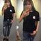 Fashion men womens unisex soft short sleeve t-shirts cat pocket blouse tops