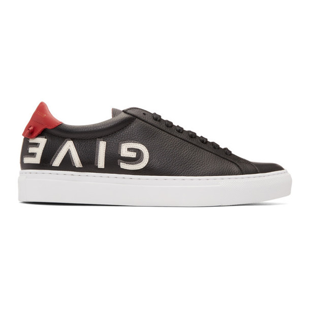 Givenchy Black Reverse Logo Urban Street Sneakers