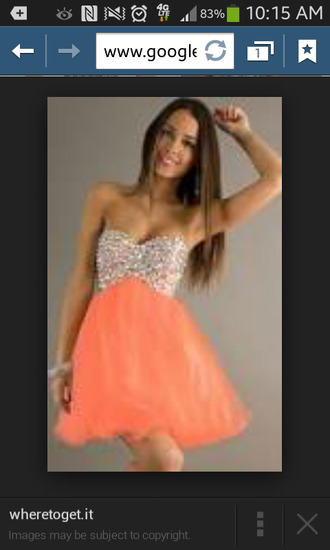 coral dress prom homecoming dress strapless dresses