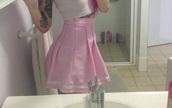skirt,tennis skirt,pink