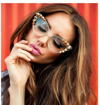 sunglasses studded retro sunglasses