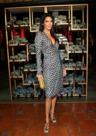 shoes angie harmon high heels dress summer summer dress summer outfits bag