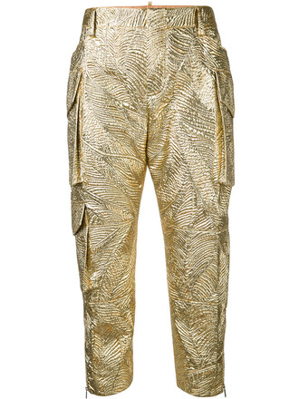 metallic women silk grey pants