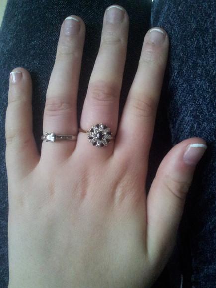 jewels ring stone crystals raw necklace nail polish diamonds cubic zirconia