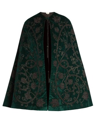 cape velvet dark green top