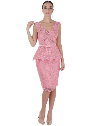 dress tulle dress lace cotton pink