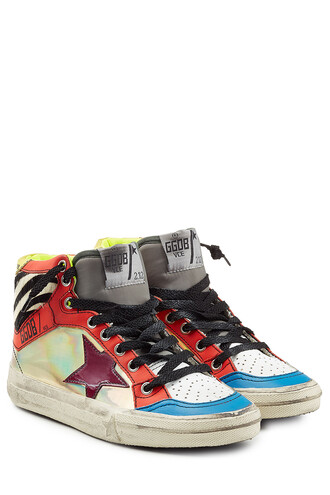 sneakers. hair high sneakers leather multicolor shoes