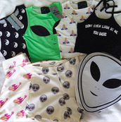 t-shirt,top,tank top,shirt,alien,grren,quote on it,yin yang,dont even look at me you basic,shorts,emijo ,bag,backpack,yin yang shirt,grunge t-shirt,yin yang tshirt,black t-shirt,black and white,style,tumblr,emoji print,green,black,emoji shorts,emoji crop top,grunge top,tumblr outfit,tumblr shirt,tumblr top,basic,seapunk,punk,pants,crop tops,black crop top,white crop tops,crop,grunge,soft grunge,two-piece,High waisted shorts,high waisted skirt,cute top,summer top,summer shorts,alien shirt,white,summer