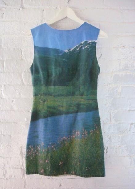 shift dress scenery dress horizon