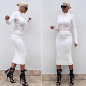 belt,waist belt,shoes,dress,white; singer