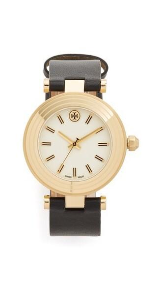classic watch gold black jewels