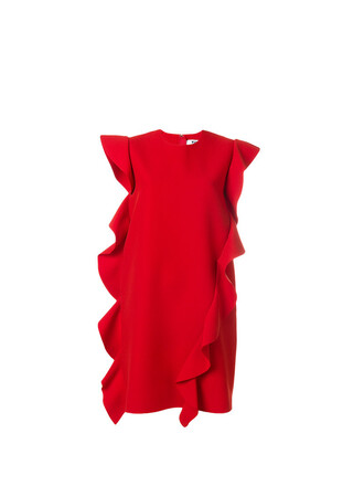 dress mini dress mini ruffle women spandex red