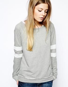 Noisy may varsity sweatshirt at asos