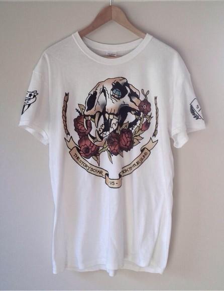 shirt skirt black t-shirt grunge holographic tattoo white dress oversized t-shirt band t-shirt band merch white