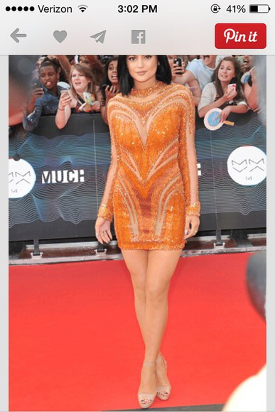 sequin dress kylie jenner