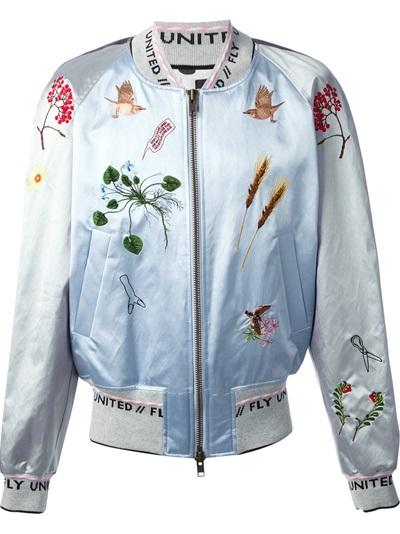 Bernhard willhelm embroidered bomber jacket