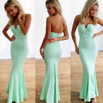 dress mint long dress wedding guest strapless cheap mintgreen outfit gown