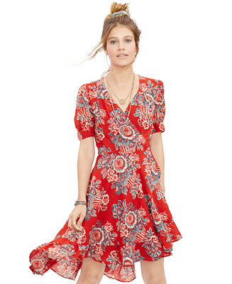ff2da5985640 Denim & Supply Ralph Lauren Floral-Print Gauze Wrap Dress - Dresses - Women  - Macy's