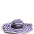 Striped cotton-blend wide brim hat