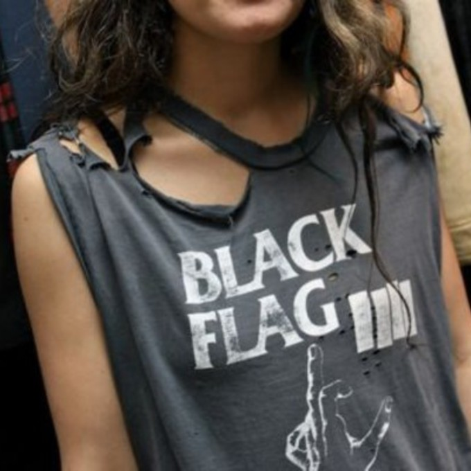 middle finger shirt black black flag birdy ripped muscle tee tank top the middle