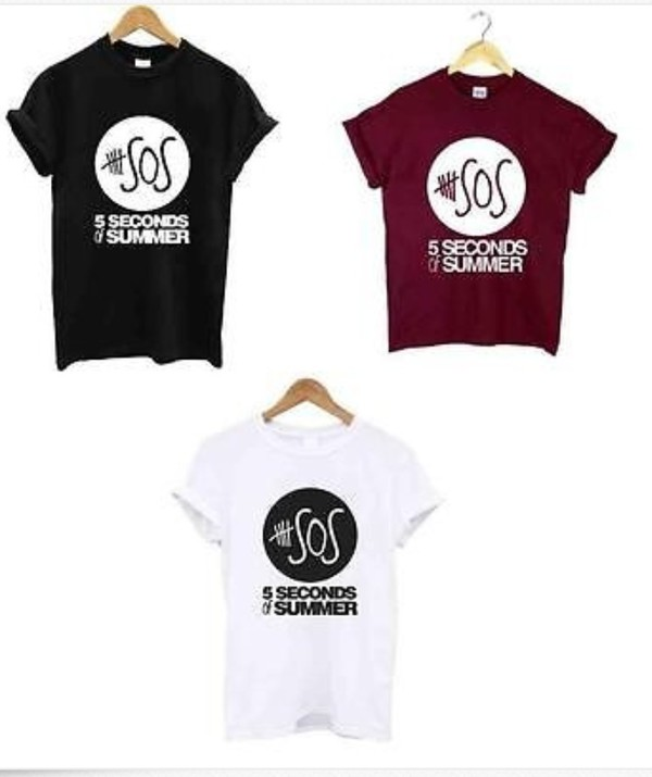 t-shirt 5 seconds of summer 5 seconds of summer t-shirt