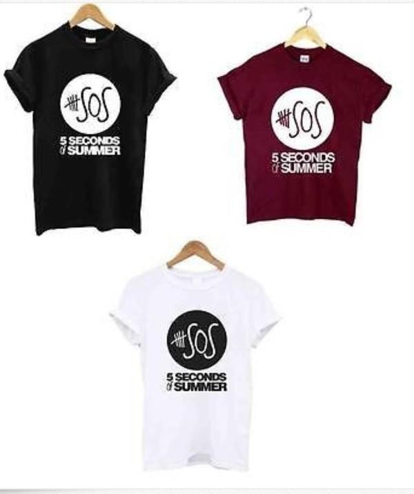 t-shirt 5 seconds of summer 5 seconds of summer t-shirt