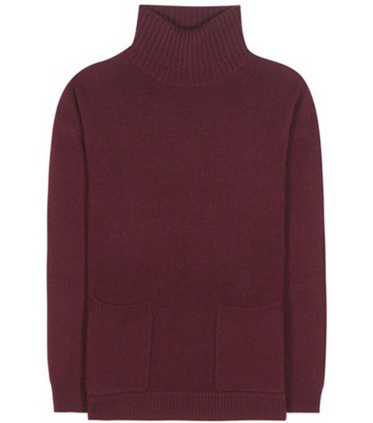 Jardin des Orangers Virgin Wool And Cashmere Turtleneck Sweater in red