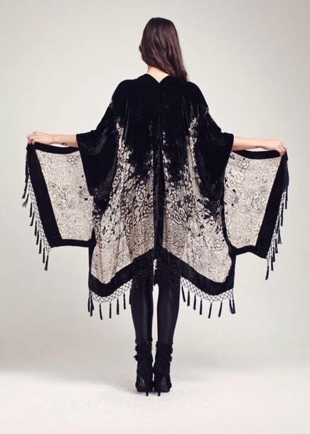 cardigan kimono flare