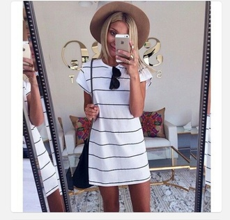 stripes dress horizontal stripes white dress black stripes shirt dress black white