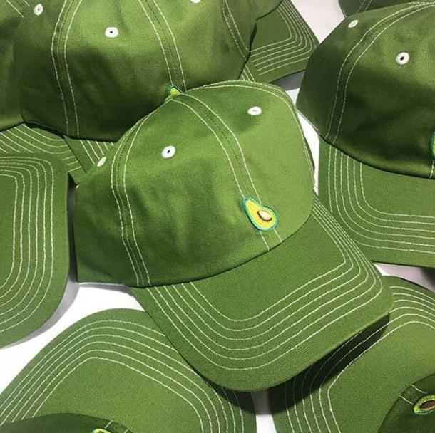 hat avocado tumblr green cap