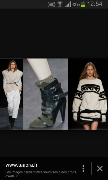 shoes isabel marant high heels boots