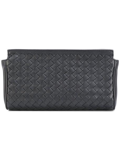 Bottega Veneta - woven zip purse - women - Lamb Skin - One Size, Black, Lamb Skin