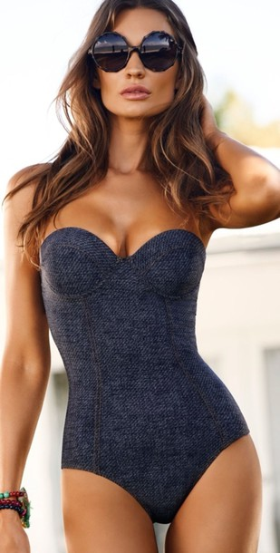 swimwear blouse one piece swimsuit