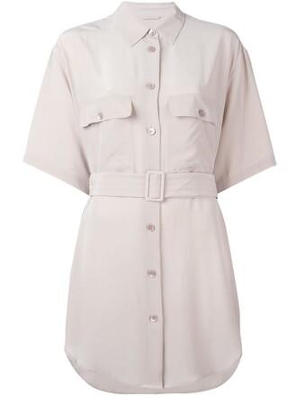 dress shirt dress purple pink