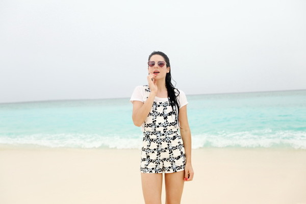 the cherry blossom girl shorts bag sunglasses
