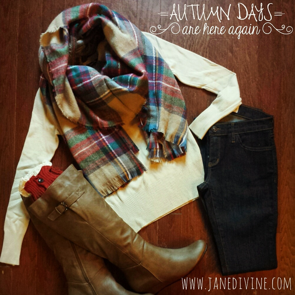 Cute & cozy plaid scarf