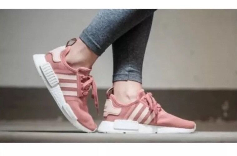 d0b5f1884 Adidas NMD R1 Runner W Salmon Raw Pink Women Size 9 S76006 Rose White Peach