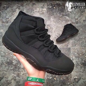 jordan retro 11 jordans 11's sneakers black sneakers black shoes footwear swag dope all black everything mens shoes all black jordan's 11 shoes high top sneakers concords 11 bae inlovewiththesejojo highlevel jayz 11 cantmatchthat black black jordans air jordan air jordan 11 jordan's