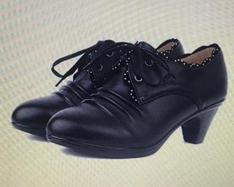 shoes black 20's low heel weipoot