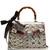 Lilith medium bamboo-handle snakeskin bag