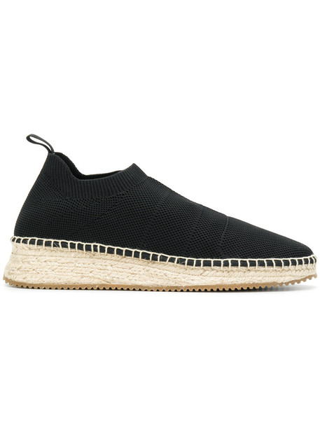 Alexander Wang women espadrilles leather cotton black shoes