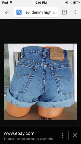 shorts levi's levis shorts high waisted shorts denim shorts roll-up
