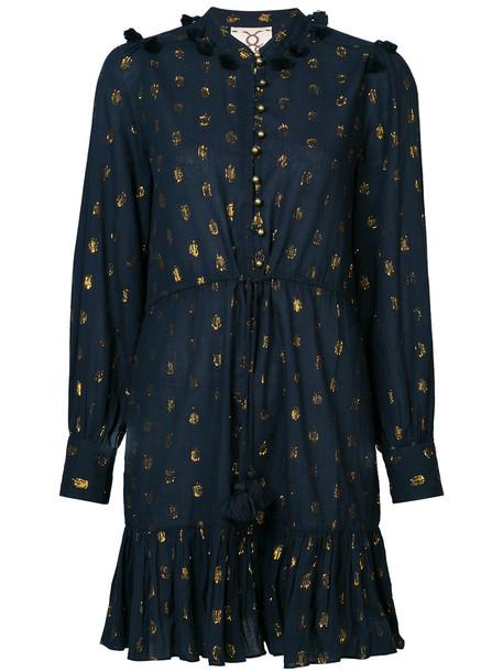Figue dress women cotton blue