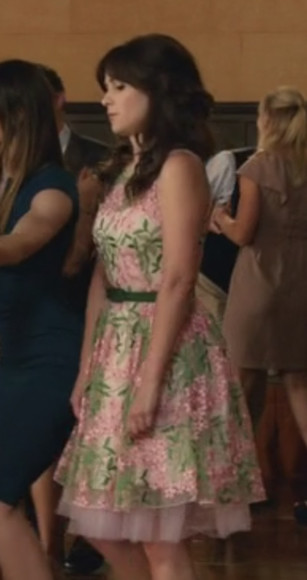 zooey deschanel dress floral dress new girl floral jacket