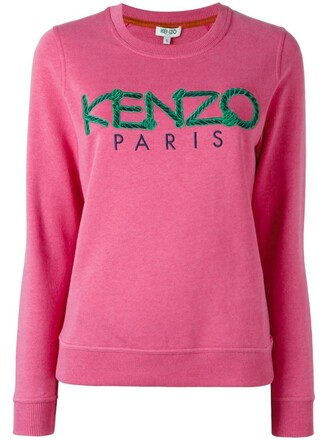 sweatshirt paris purple pink sweater