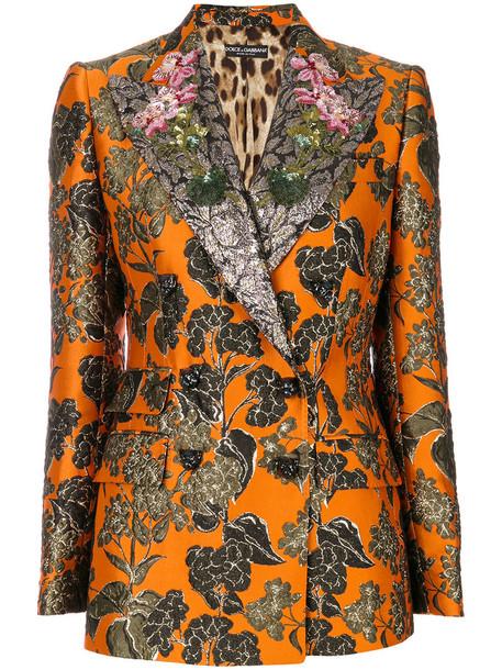 Dolce & Gabbana blazer women spandex jacquard silk jacket
