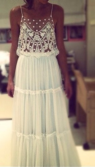 dress white dress lace dress long dress details hipster wedding classy lace maxi dress hippie boho hippie dress maxi