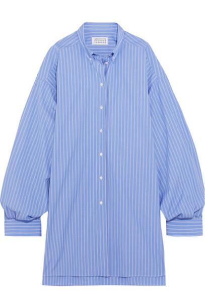 dress shirt dress oversized cotton blue