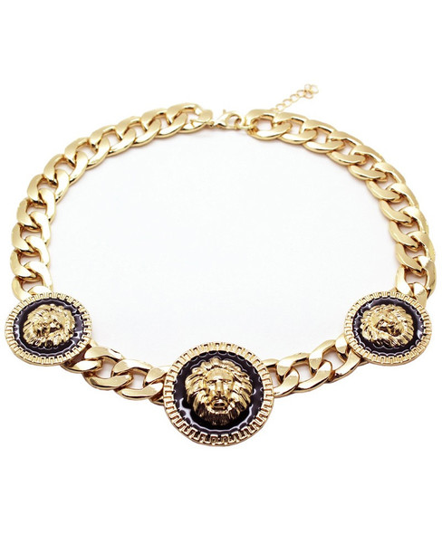 Triple Lion Head Necklace | Outfit Made