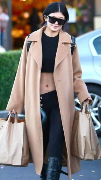 coat kylie jenner long nude coat camel coat long coat trench coat nude coat